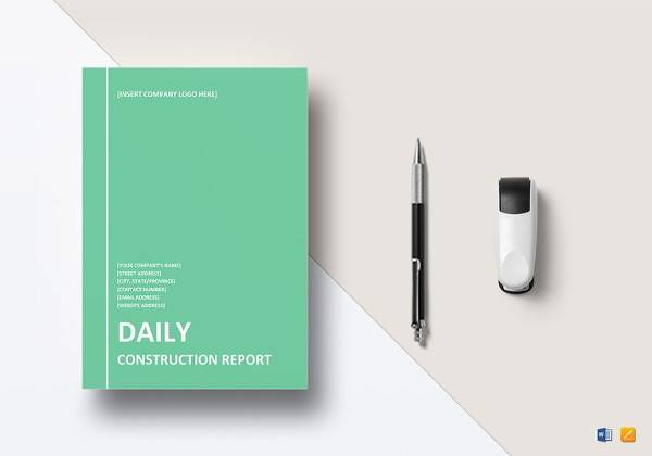 simple daily construction report template