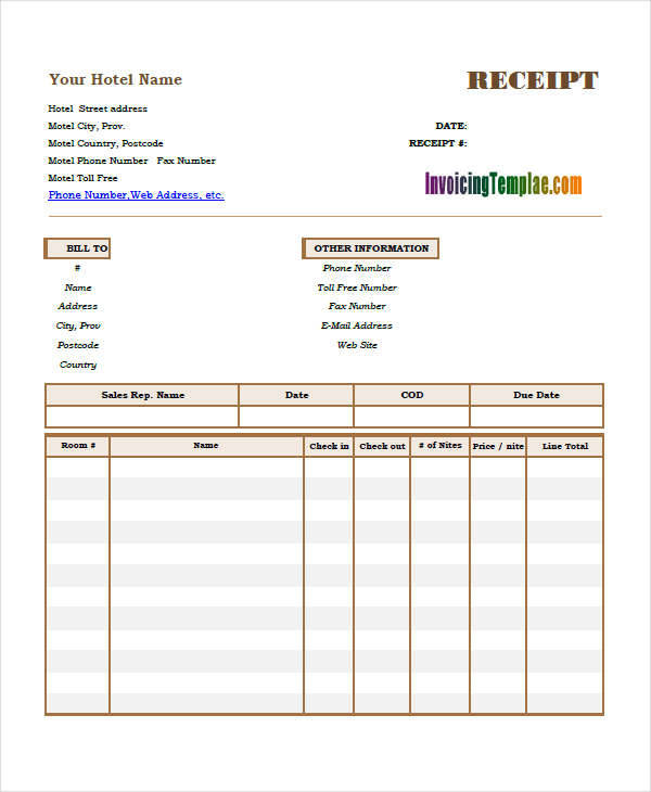 10 Simple Receipt Template Free Sample Example Format Download – Simple Receipt