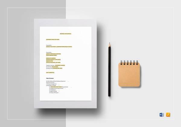simple service proposal template