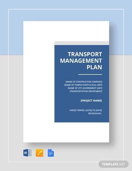 simple transport management plan
