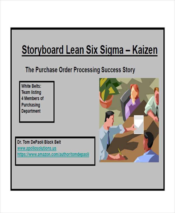 six sigma storyboard