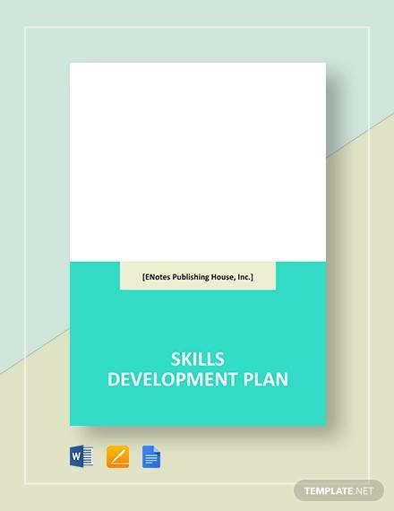 skills development plan template