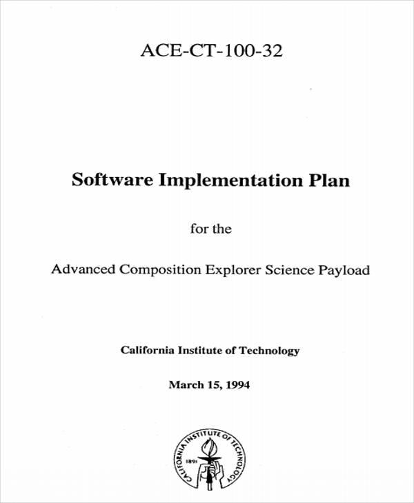 software implementation plan