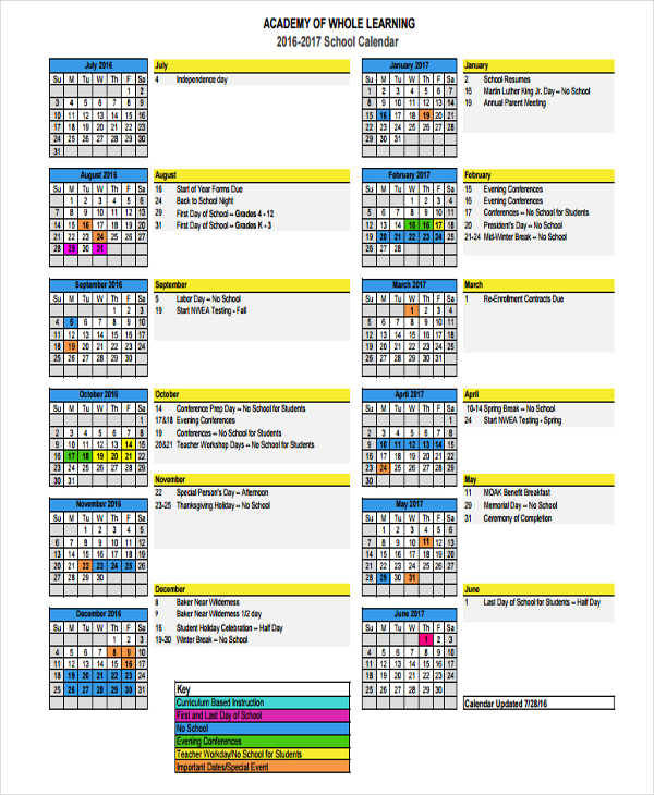 9 event calendar samples templates sample templates for Annual event calendar template