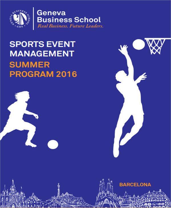 sports event program