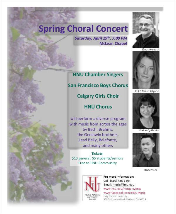 spring choral program