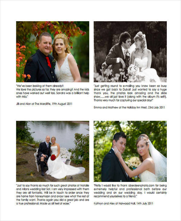 Storyboard For Wedding Photography