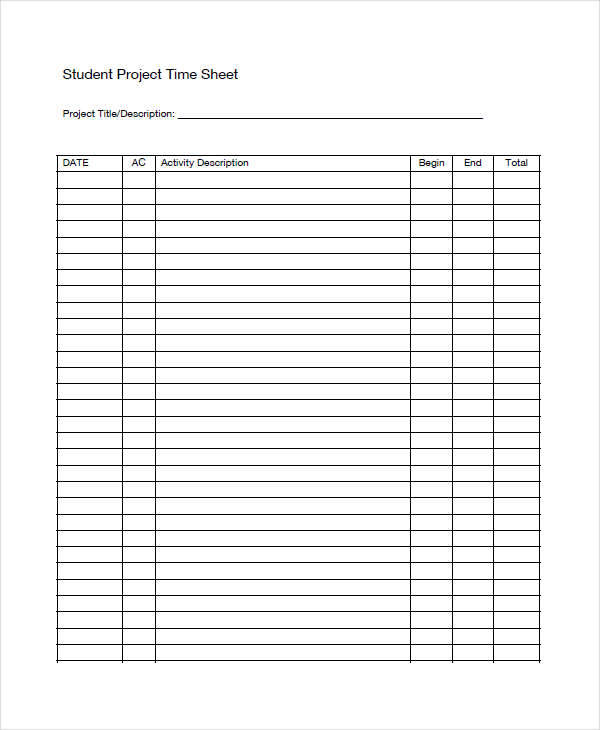 student project timesheet1
