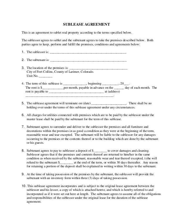 Lease Contract Template  Free Sample Example Format Download