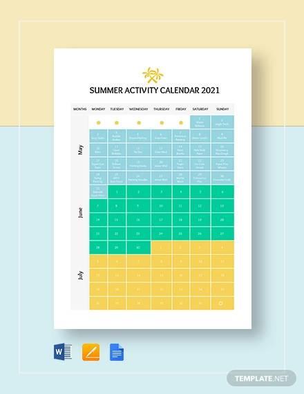 Summer Calendar Template from images.sampletemplates.com