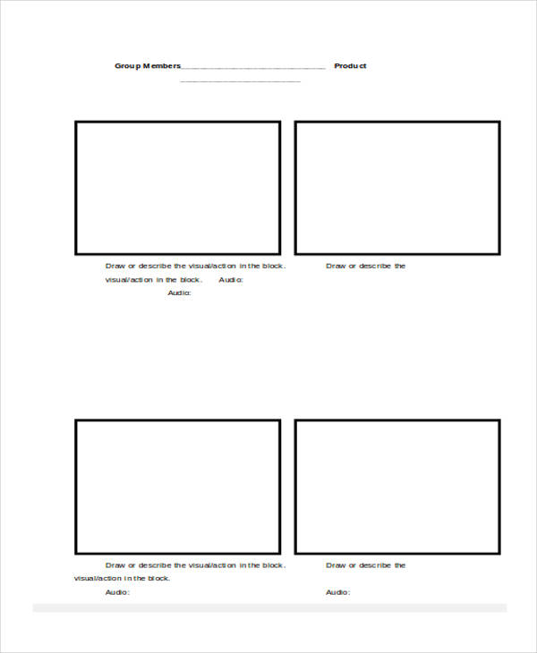 6 script storyboard examples in word pdf sample for Tv commercial script template
