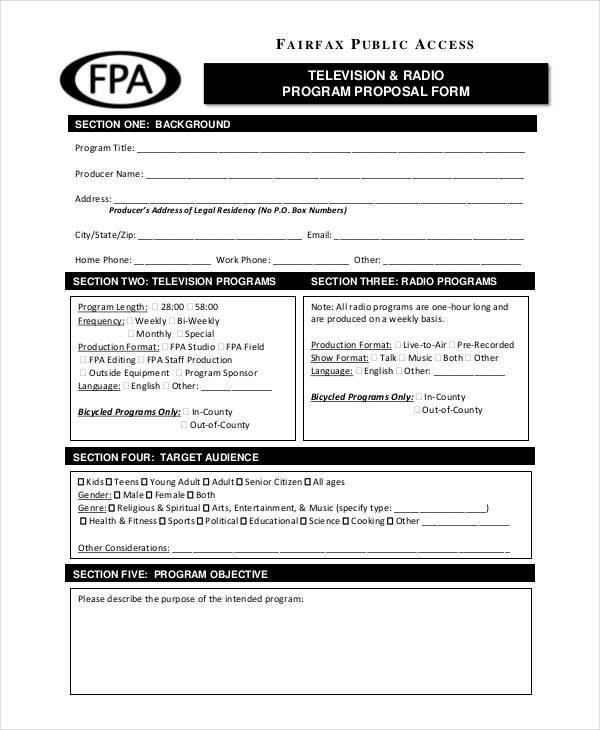 Program Proposal Samples  Templates In Pdf