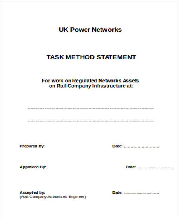 task method statement
