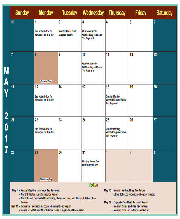 tax return quarterly calendar1