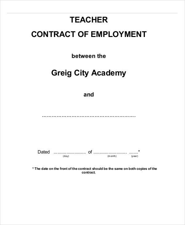 teacher employment contract1