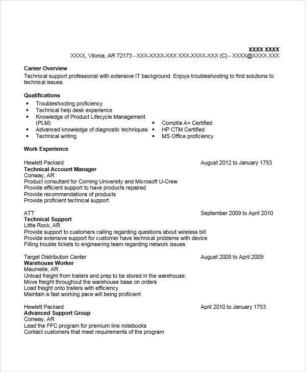Technology Account Manager Resume. Resume For A Technical Account