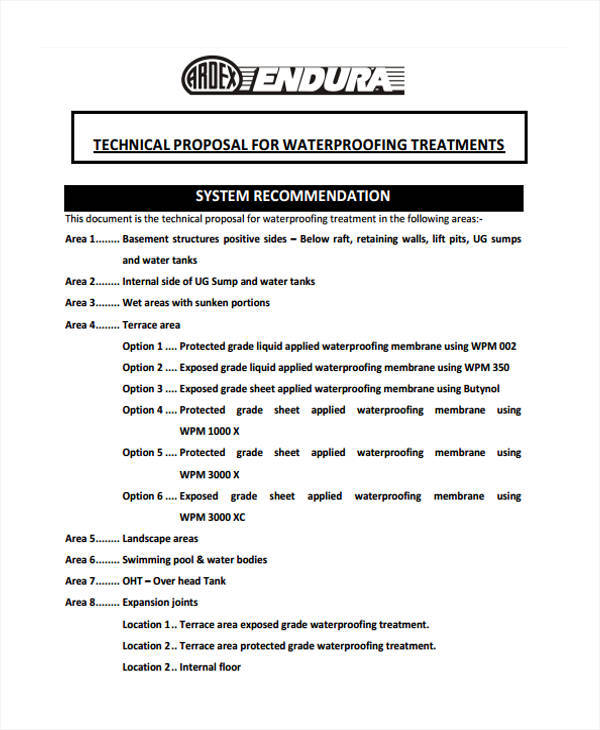technical work proposal