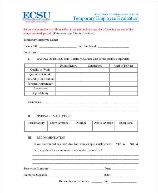 temporary employee evaluation1