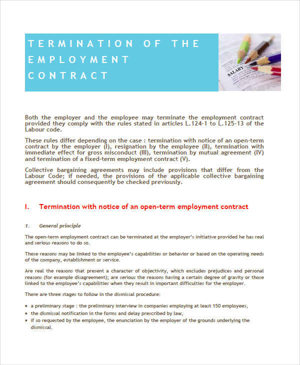 termination employee contract