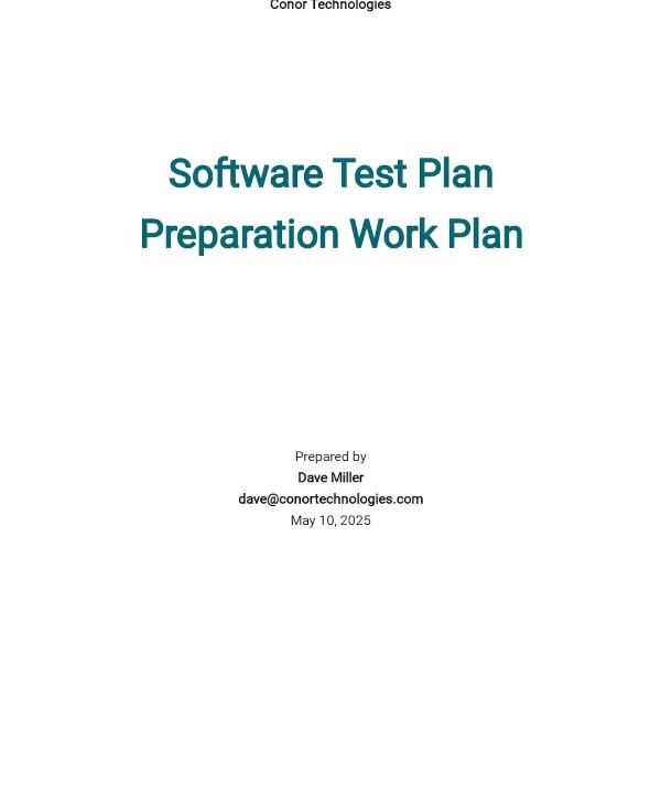test plan task preparation template1