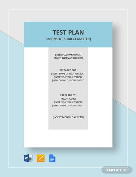 Regression Test Plan Details File Format