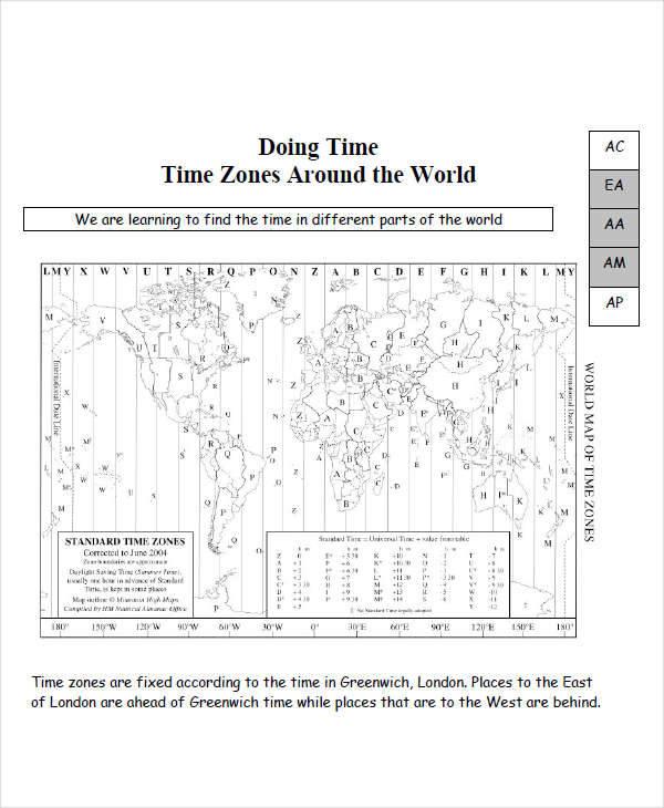 time zone diagram