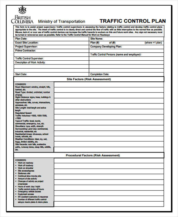 Control Plan Samples  Templates  Pdf Doc