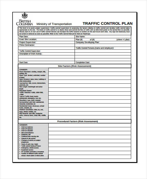 Control Plan Samples  Free Sample Example Format Download