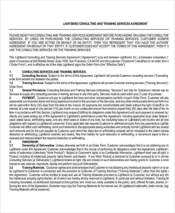 training consultant contract2