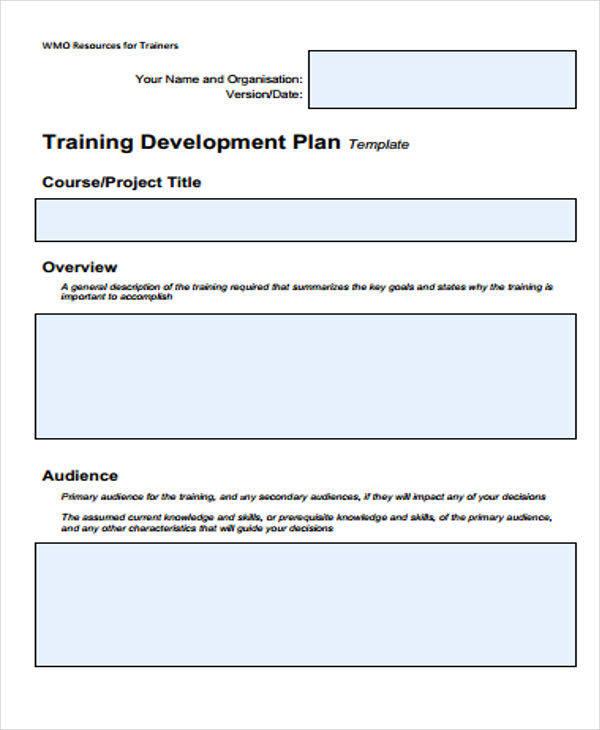 training development plan