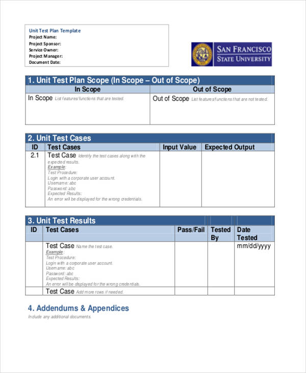 unit test plan3