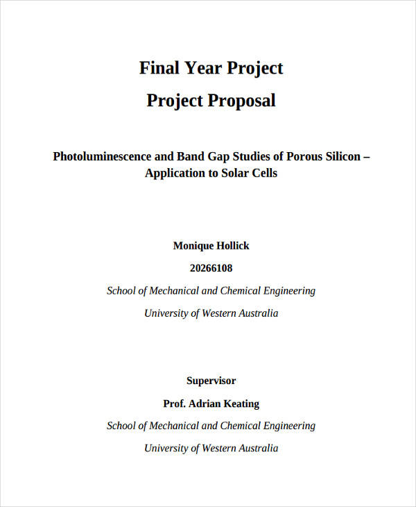 42 Project Proposal Formats
