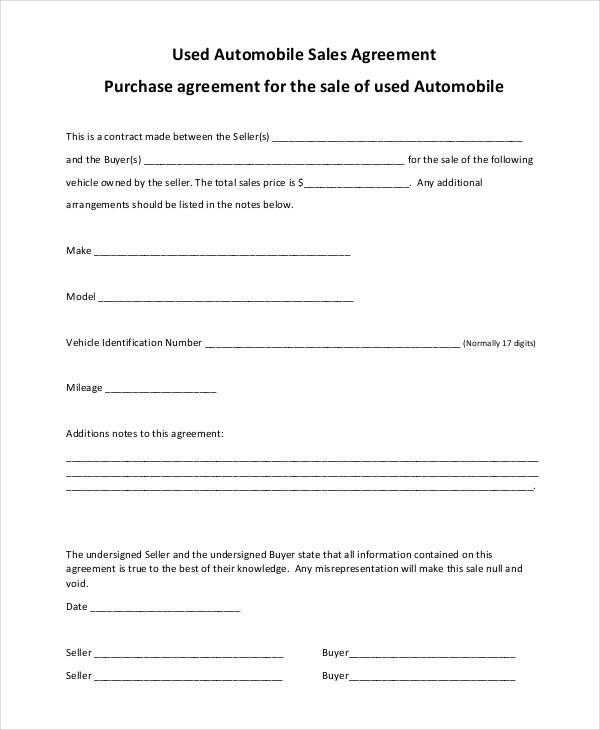 used automobile sales