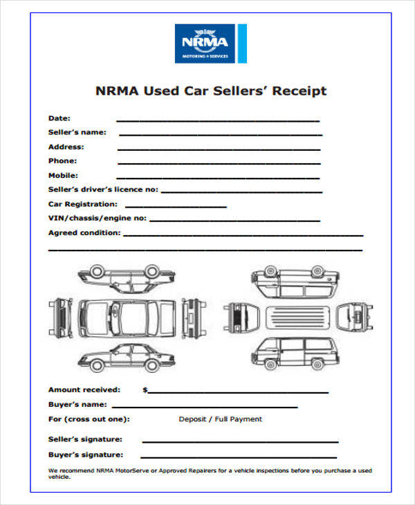 used vehicle sales receipt1