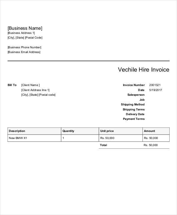 vehicle hire invoice2