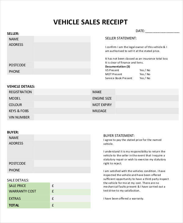 vehicle sales invoice template1
