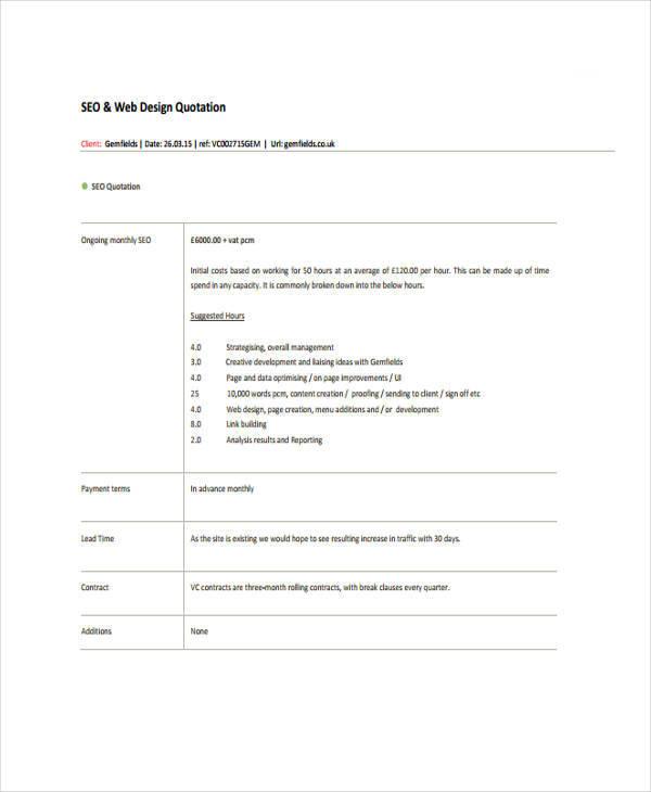 free 10 design quotation sample templates in ai pdf. Black Bedroom Furniture Sets. Home Design Ideas