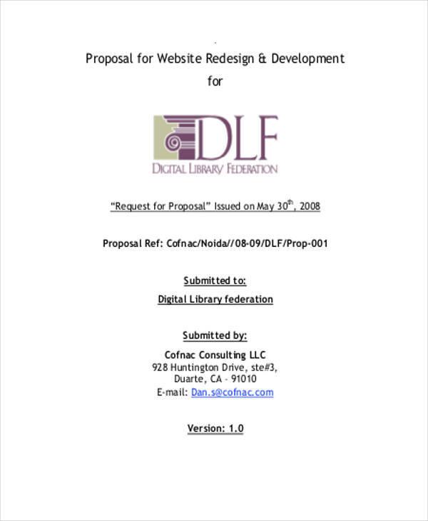 website advertising proposal