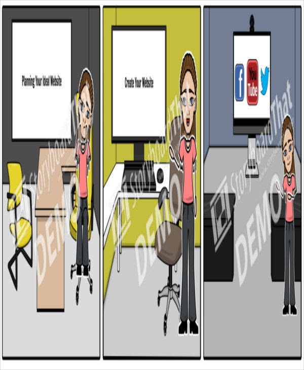 website planning storyboard