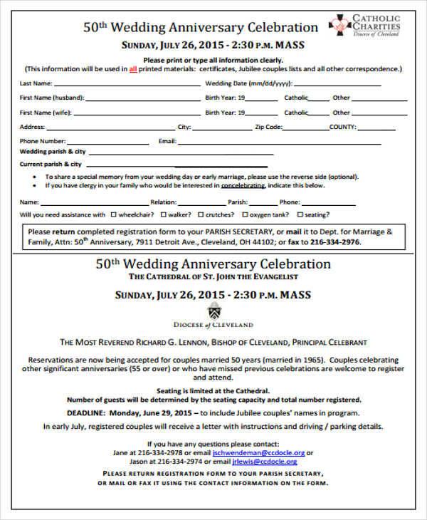 Wedding Anniversary Program Ideas: 20+ Event Program Samples & Templates