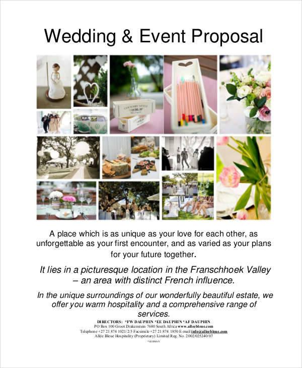 wedding event management proposal