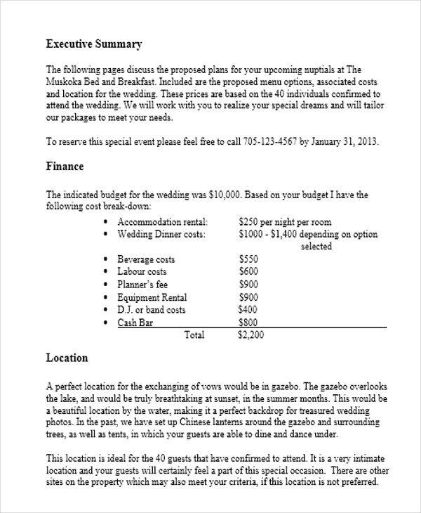 wedding event management proposal1