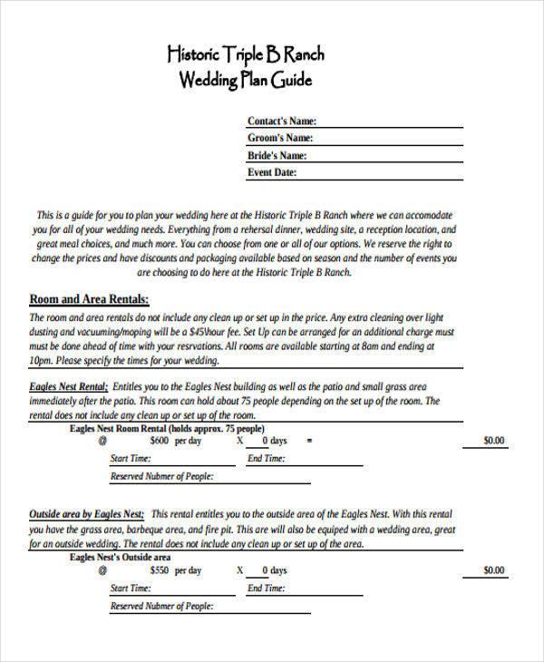 wedding plan guide