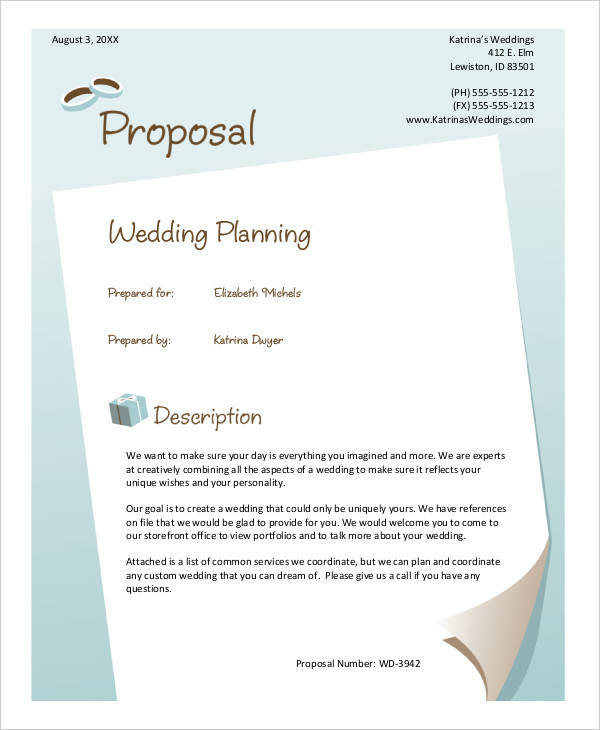 wedding planner event proposal1