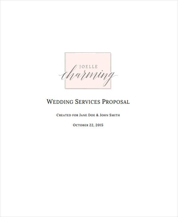 wedding planner event proposal2