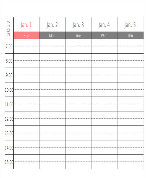 weekly appointment calendar1
