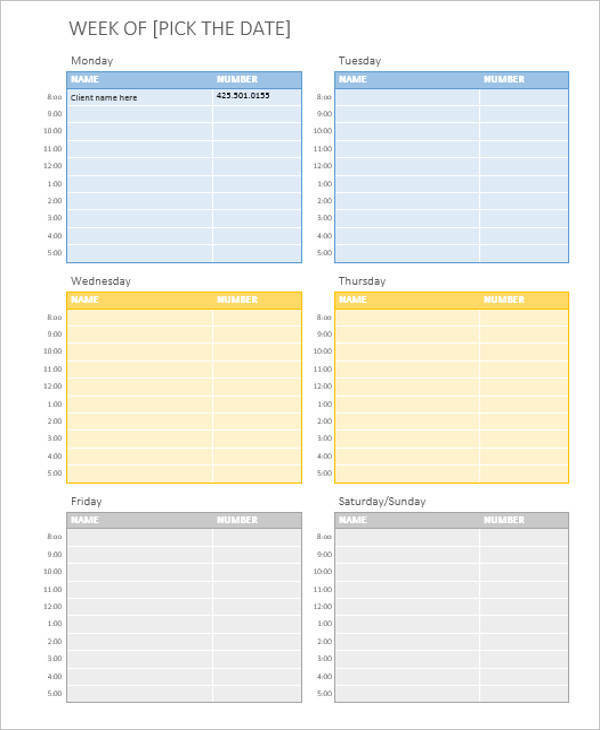 weekly appointment calendar2