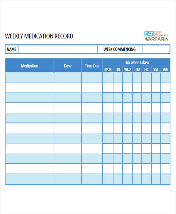 weekly medication time1