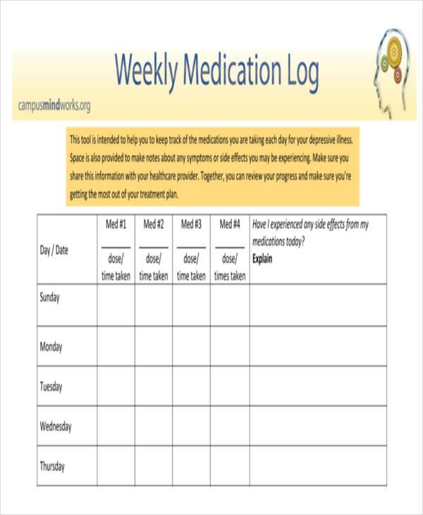 weekly medication