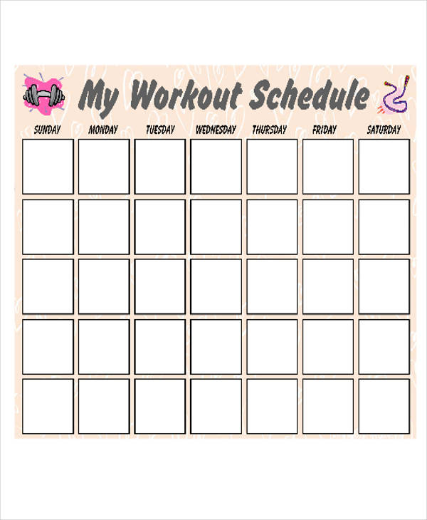 Workout Calendar Template. Free Printable Workout Chart Pdf From ...